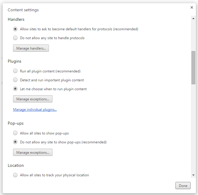 Disable Chrome Popups 4