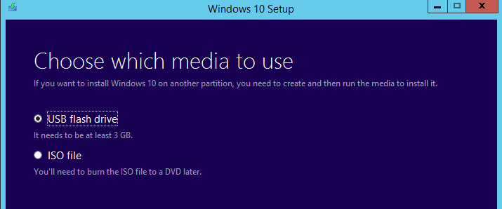 Create Windows 10 ISO/USB