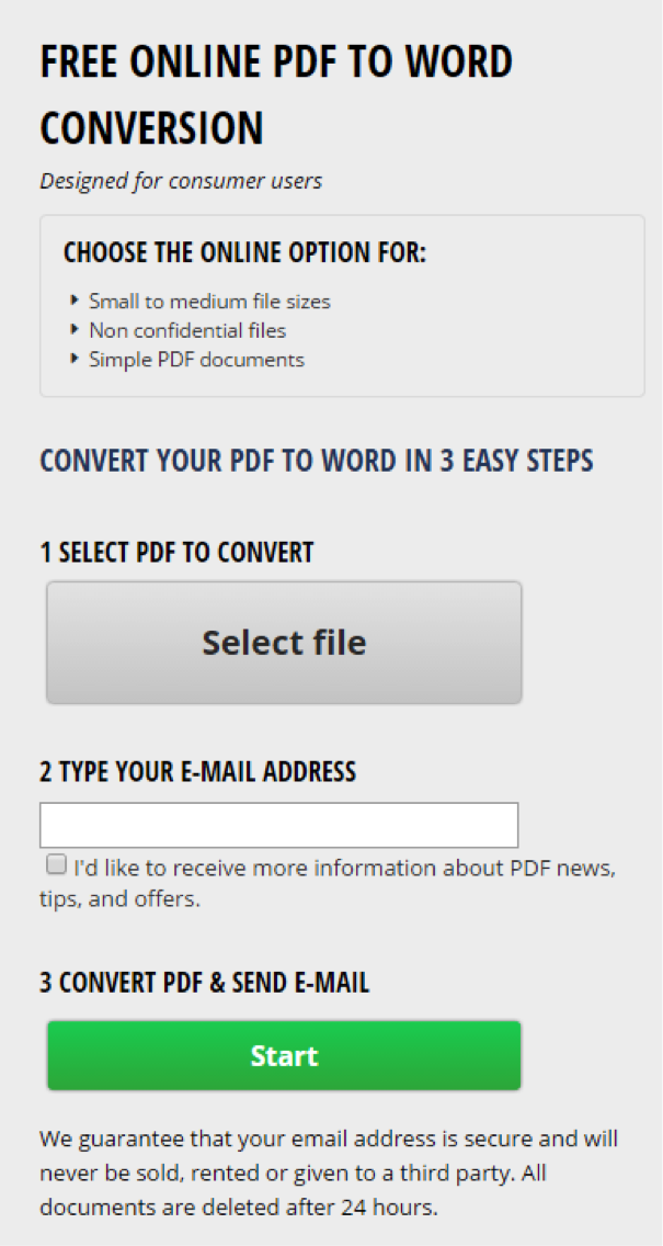 Convert Pdf To Word With Investintech S Free Online Pdf To Word